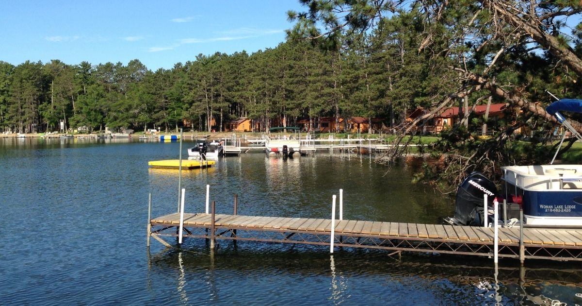 View of a dock and lake