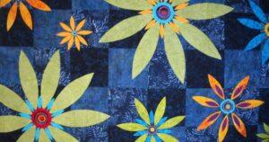 A flower garden quilt