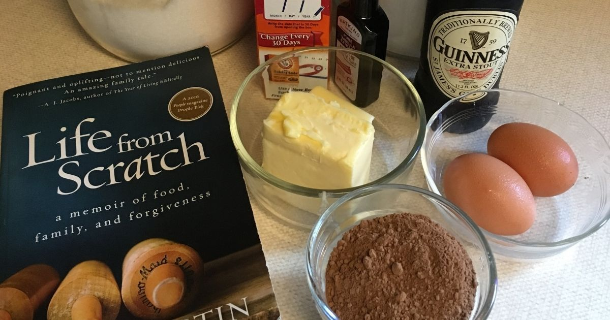 Life From Scratch book and cake ingredients