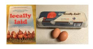 Locally Laid book and eggs
