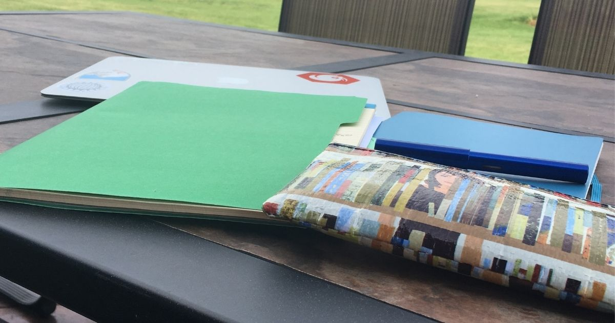 Journal and pens ready to write