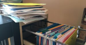 Office file cabinet organizing