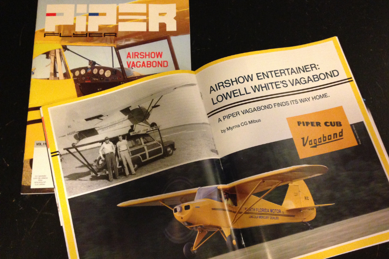 Piper Flyer magazine with Vagabond article