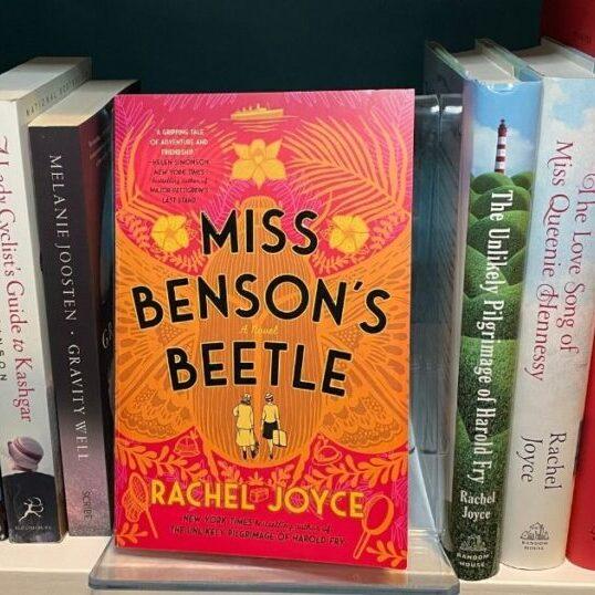 Miss Benson's Beetle novel on a bookshelf